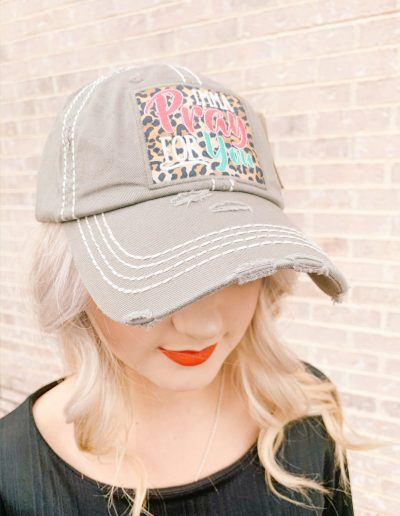 """Imma Pray For You"" Hat (Grey)"